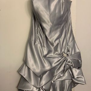 Formal silver dress for homecoming/prom